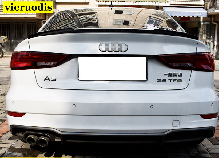 Painted Fit For AUDI A3 8V 4DR Sedan Rear Window Roof Spoiler Wing 2013-2019
