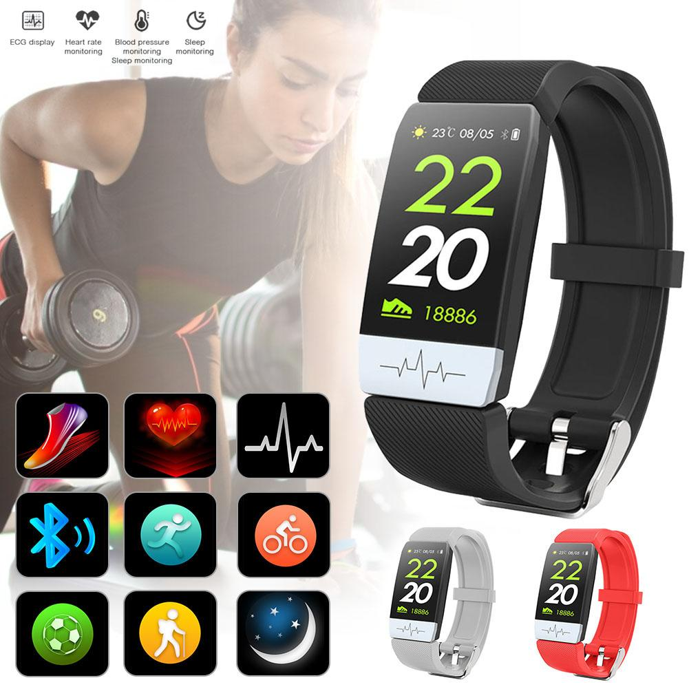 Person - New Q1S Fitness Tracker ECG PPG Waterproof Heart Rate Monitor Smart Band Weather Forecast Smart Bracelet For IOS Android