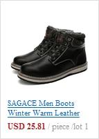 SAGACE Men Boots Lightweight Winter Shoes For Men Snow Boots Waterproof Footwear Slip On Ankle Short Bootie 1031