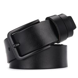 Мужской кожаный ремень с пряжкой DWTS