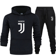 Hoodies Sports-Suit Football-Series Winter 2sets Autumn Men's Brand Thick Gym of Hot-Sale