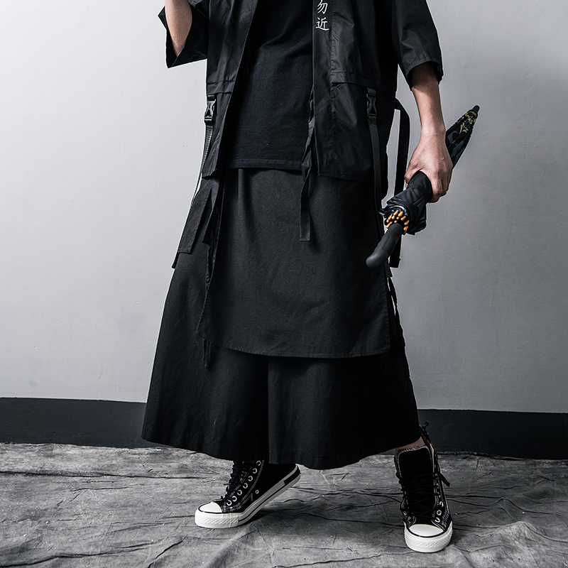 Men Casual Baggy pants Hip-hop Trouser Dancing Wide leg Pants Gothic Punk Style loose Pants Men