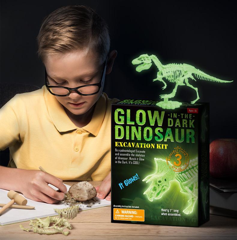 12psc Dinosaur Bone Model Archaeological Excavation Scientific Research Toy