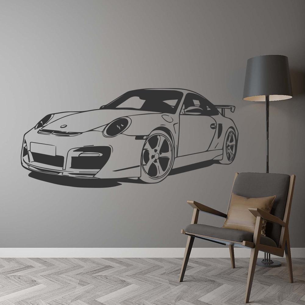 Racing Car WALL STICKER Boy Girl Room Car Wall Decal Kids Room Decoration UK