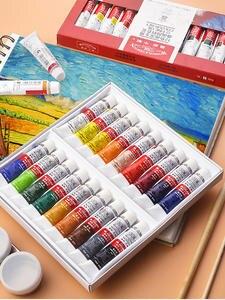 Oil-Paint-Set Newton Drawing-Art Winsor Artist Professional 12/18-Colors