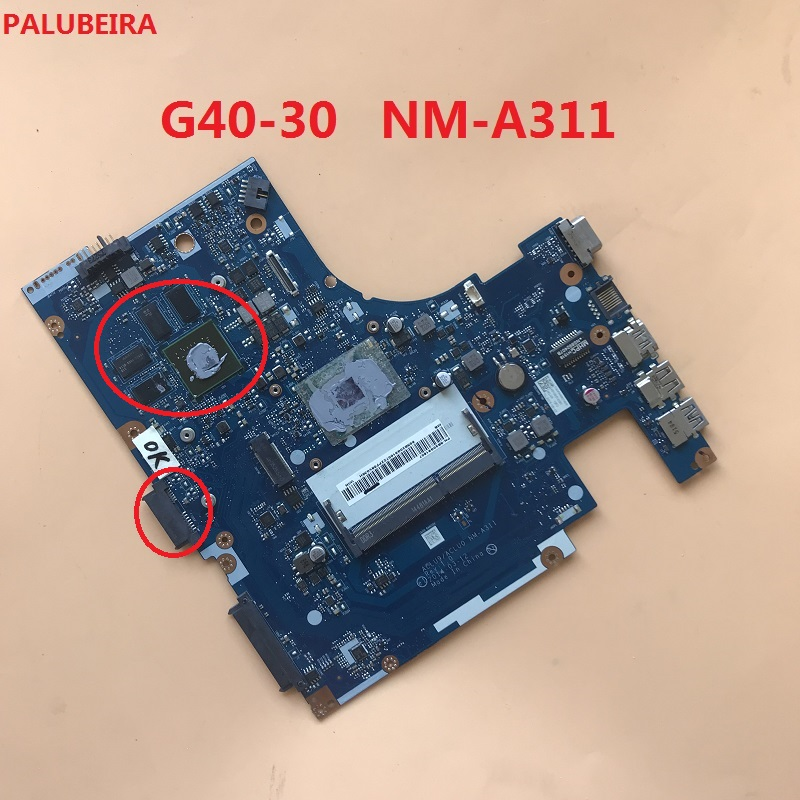 FOR lenovo G40-30 laptop motherboard NM-A311 5B20G91611 cpu n3540 working well