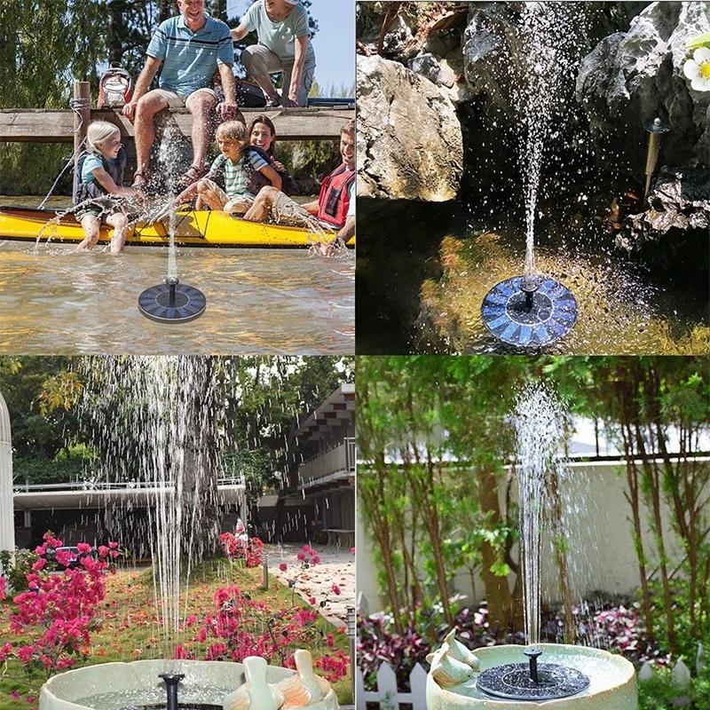 solar powered fountain pump for bird baths