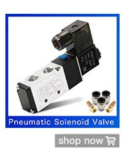 """Pneumatik válvula 5//2 vías 24 voltios 1//4/"""" 1,5-8 bar 5//2 vías válvula con KV 1.2"""