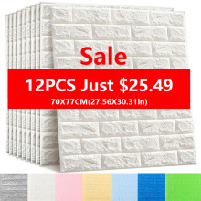 Wall-Stickers Backdrop Bedroom-Decor Imitation-Brick Self-Adhesive Living-Room Kitchen