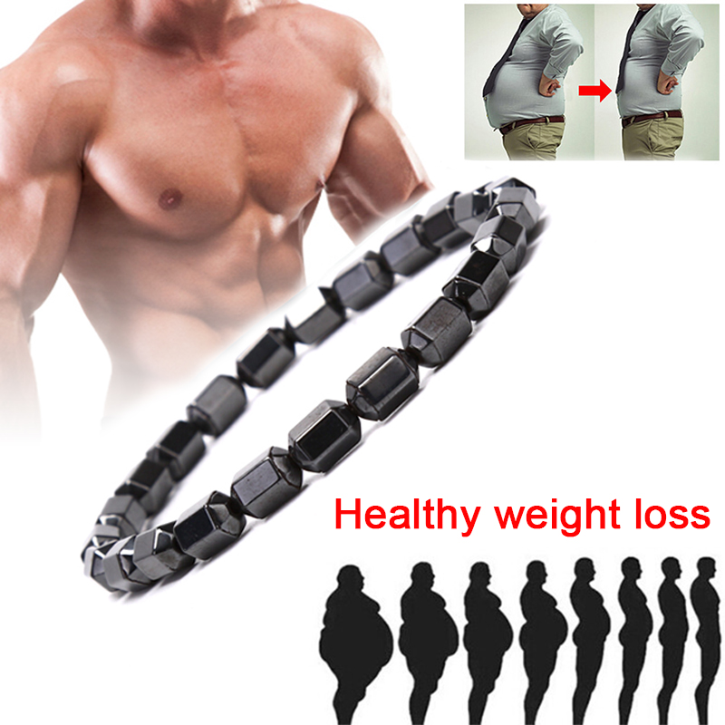 Magnet Charms Slimming Health Men Bracelet Magnet Black Stone Magnetic Bracelets For Women Weight Loss Gifts
