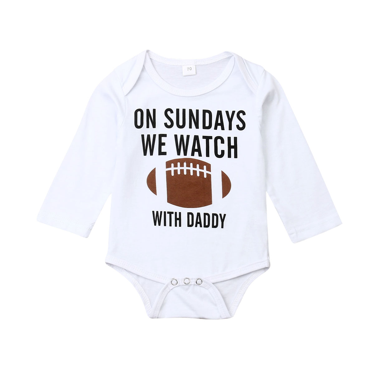 Outfits Bodysuit Football Long-Sleeve Newborn Baby-Girl Infant Boy Letter title=