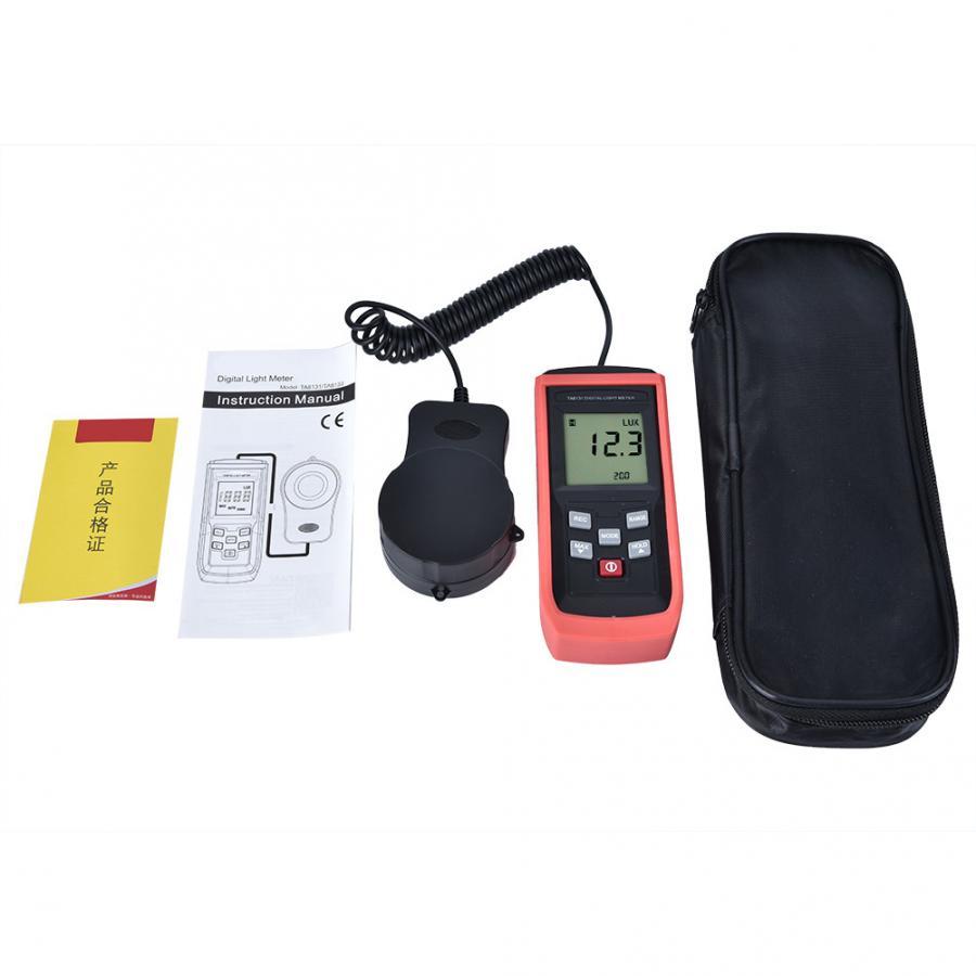 Light Meter LX1010BS Digital Luxmeter LCD Display Light Meter Environmental Testing Illuminometer DIY Electrician Light Meter