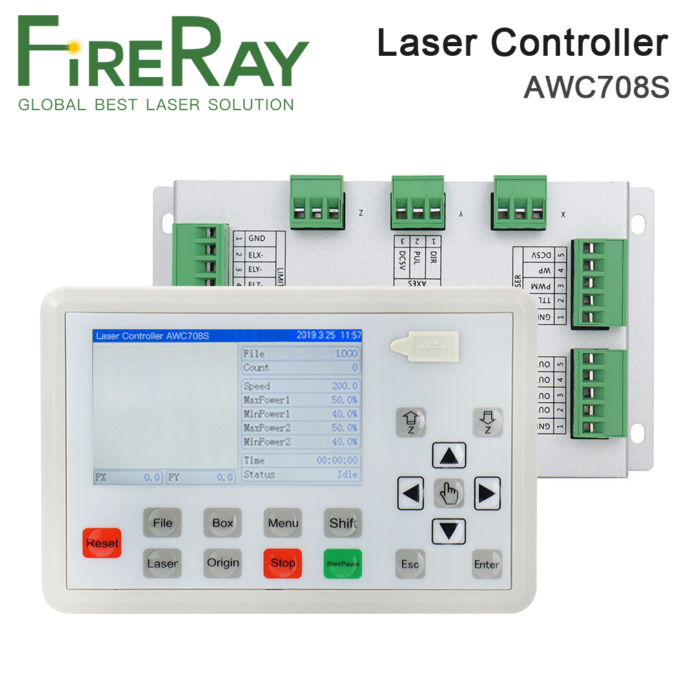 Trocen AWC708S Co2 Laser Controller System for Co2 Laser Engraving Cutting Machine Replace AWC708C Lite ruida Leetro