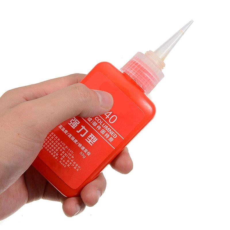 50ml High Strength Anaerobic Adhesive Threadlocker Lock Glue Sealing Anti-corrosion Threaded Nuts Metal Locking Adhesive