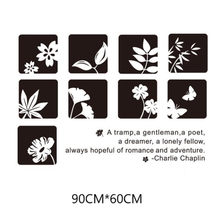 Black minimalist style plant wall sticker Living room study bedroom wall decoration Art mural(China)