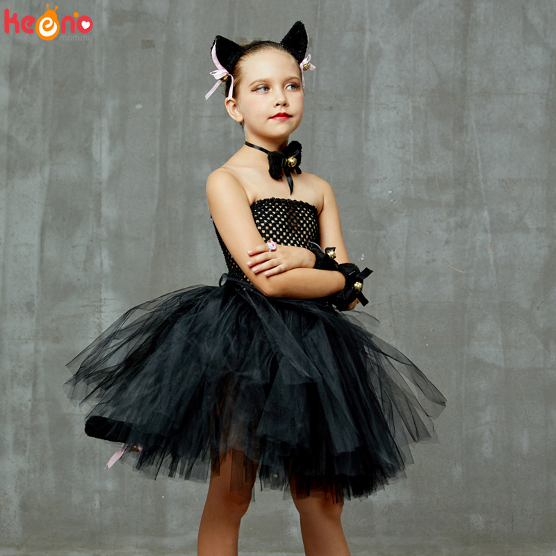 Ladies Black Cat Costume Accessories Witch Fancy Dress Halloween Tights Witches