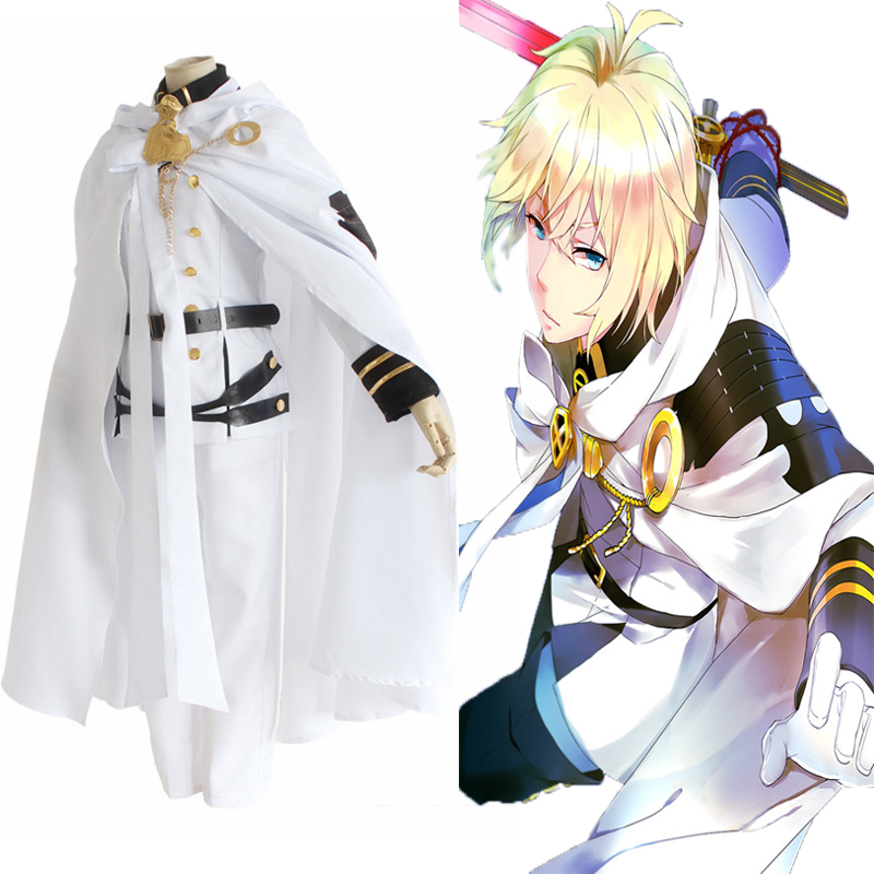 Cosplay Costumes Seraph Anime Reign Owari Vampire Party Halloween The-End of Mikaela title=