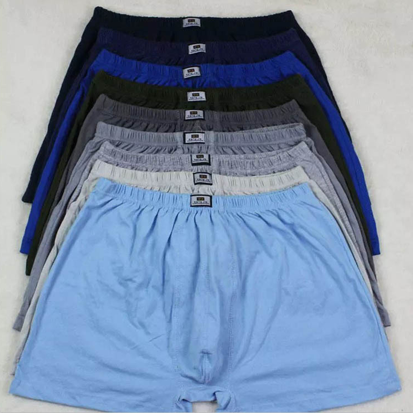 5pcs/lot Cotton Plus Size Underwear Boxer Male XXXXL New Men's Boxer Pantie Lot Underpant Loose Large Short