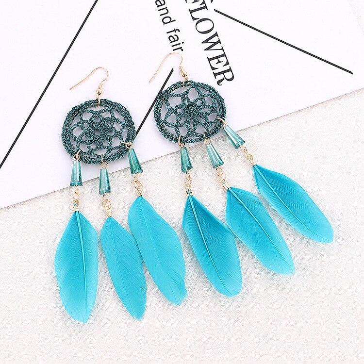 Boucles d'Oreilles Attrape Rêves Maison Turquoise bijoux femme tenue unique style chic et bohème turquoise belle or massif style indien amérindienne capteurs de rêves