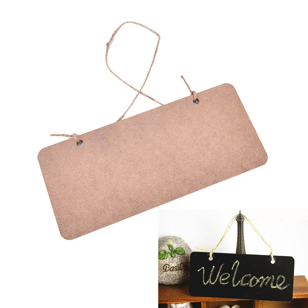 Wooden Mini Blackboard Chalkboard Message Sign With Hang String Wedding Party Decoration Marriage Supplies 18.5*8cm