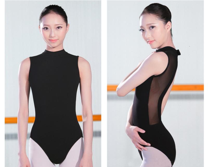 Ballet Dress One-Piece Women Dance Costume Girl Summer Backless Halter Sleeveless Adult Ballet Leotard Stand Collar (11)