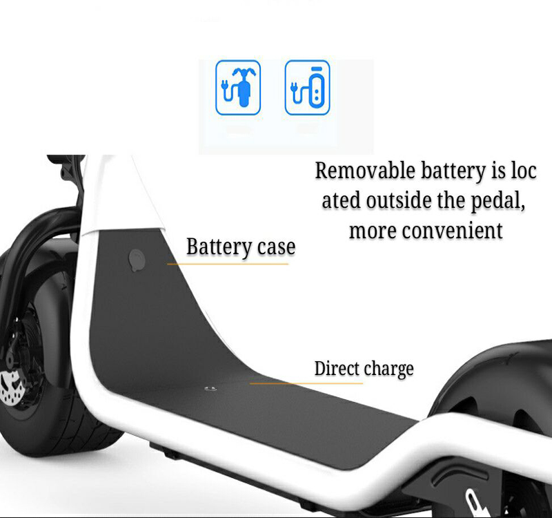 Electric Scooter Bike Two Wheels Electric Scooter 36V 350W Motorcycle Portable Smart Electric Citycoco Scooter With Seat         (8)
