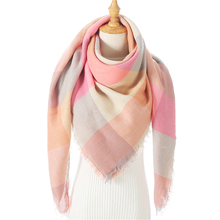 Winter Scarf Shawls Blanket Wraps Pashmina-Bandana Bufanda Knit Cashmere Plaid Warm Triangle