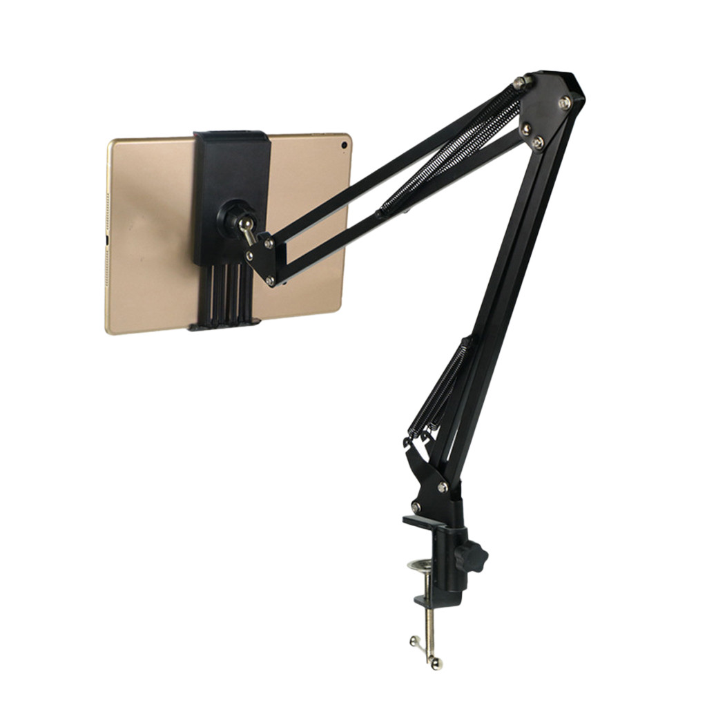 Clip-Bracket Stand Tablet-Pad Phone-Holder Lazy Long-Arm Universal Flexible 360-Rotating title=