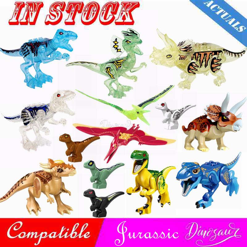 Jurassic Dinosaur World Park 2 Raptor Dinosaurs Spinosaurus Triceratops Crystal Dragon Figures Building Blocks Kids Toy Jurassic