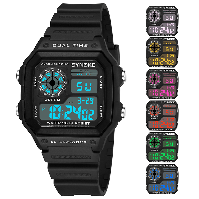 Shock Military Men Watch Digital Waterproof Outdoor Sports Watches Solid Color Clock relogio masculino militar 2020 New Gifts