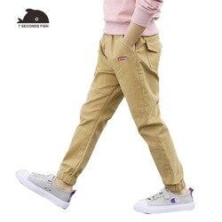 Детские хлопковые брюки на мальчиков 3-12 лет