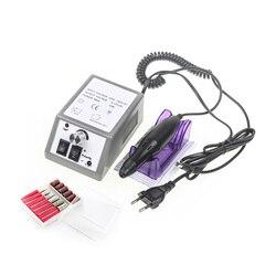Электрическая дрель для ногтей, маникюрный набор, напильник, серая ручка для ногтей, машинка, набор с вилкой европейского стандарта, бесплат...