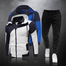 Sportswear Male Clothing Hoodies Tracksuit Outfit Men-Sets Pants Casual New And Zipper