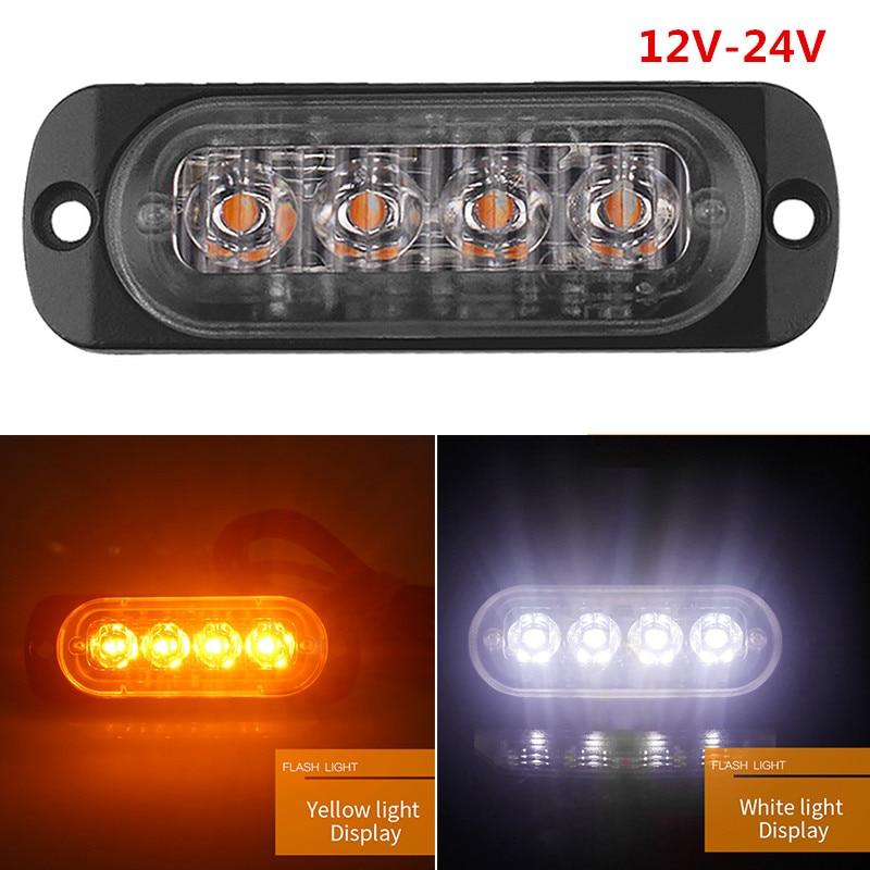 rimorchio luci di posizione universali luce gialla per camion 86 mm indicatori di posizione a LED 1 set da 4 pezzi da 12 V o 24 V 8 LED