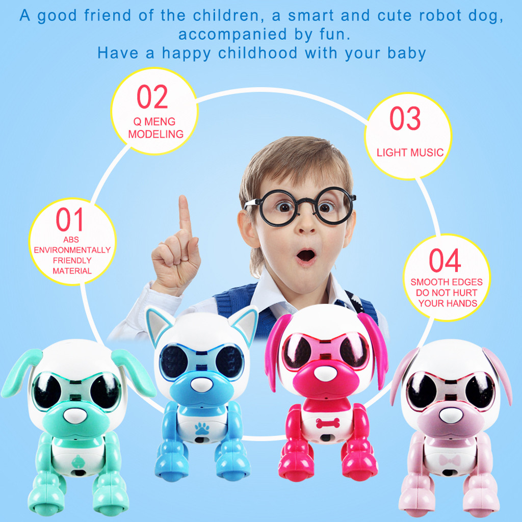 Human - Children's Electronic Pet Toys Electronic Smart Robot Dog Toys Music Dance Walking Interaction Toy For Kids Puppy Pet Toy