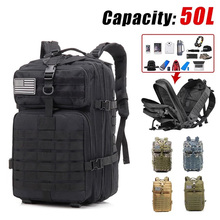 50L Molle Military Tactical Backpack 900D Nylon Wear Resistant Hiking Climbing Rucksack Outdoor Camping Trekking Hunting Bags