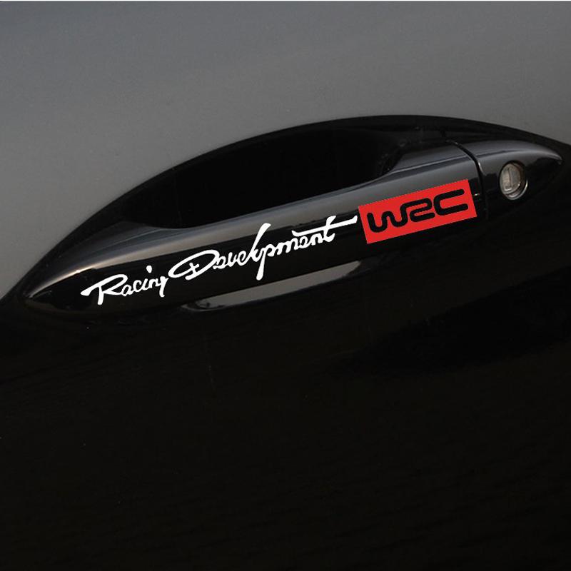 4Pcs Car Handle Stickers WRC Rally Racing Stripe Car Door Handle Decals Car Styling Stickers On Car Door And Car Body Decals (6)
