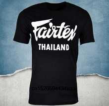 Fairtex Thailand T-Shirt Black Casual Muay Thai Kickboxing Round Neck Loose Graphic Tee Size S-3xl(China)