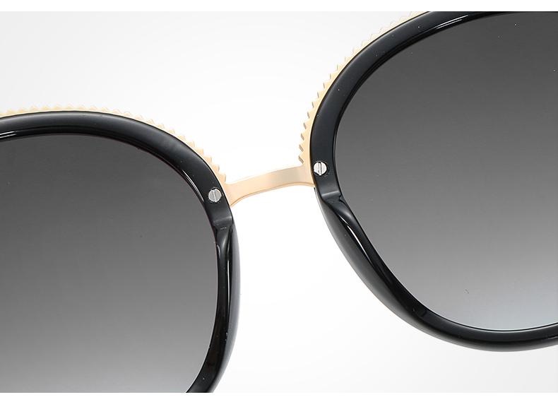 Women Sunglasses Frame Glasses Polariod Lens UV400 Polarized Sunglasses Women Fashion Round Frame Eyewear Glasses (32)