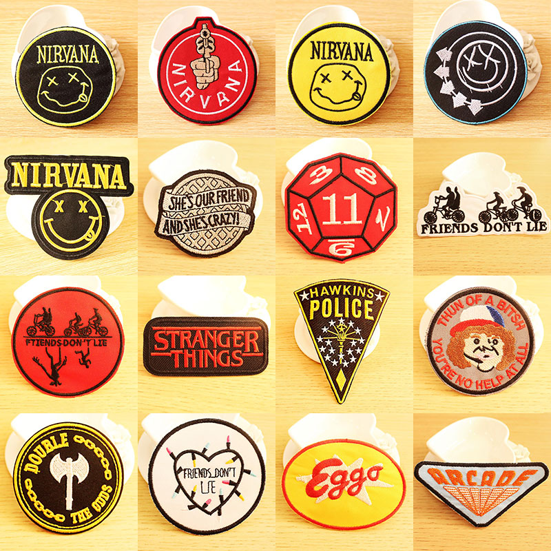 """Nirvana Band embroidered iron on patches appliques 3x3/"""" Yellow"""