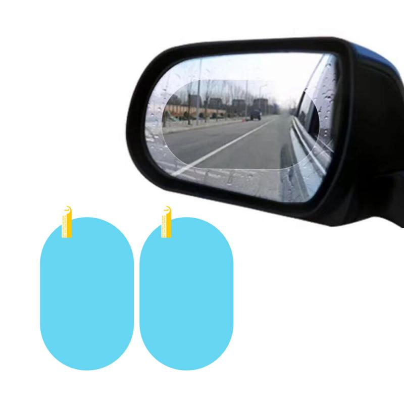 2Pcs Car Rear Mirror Protective Film Anti Fog Window Clear Rainproof Rear View Mirror Protective Soft Film Auto Accessories title=