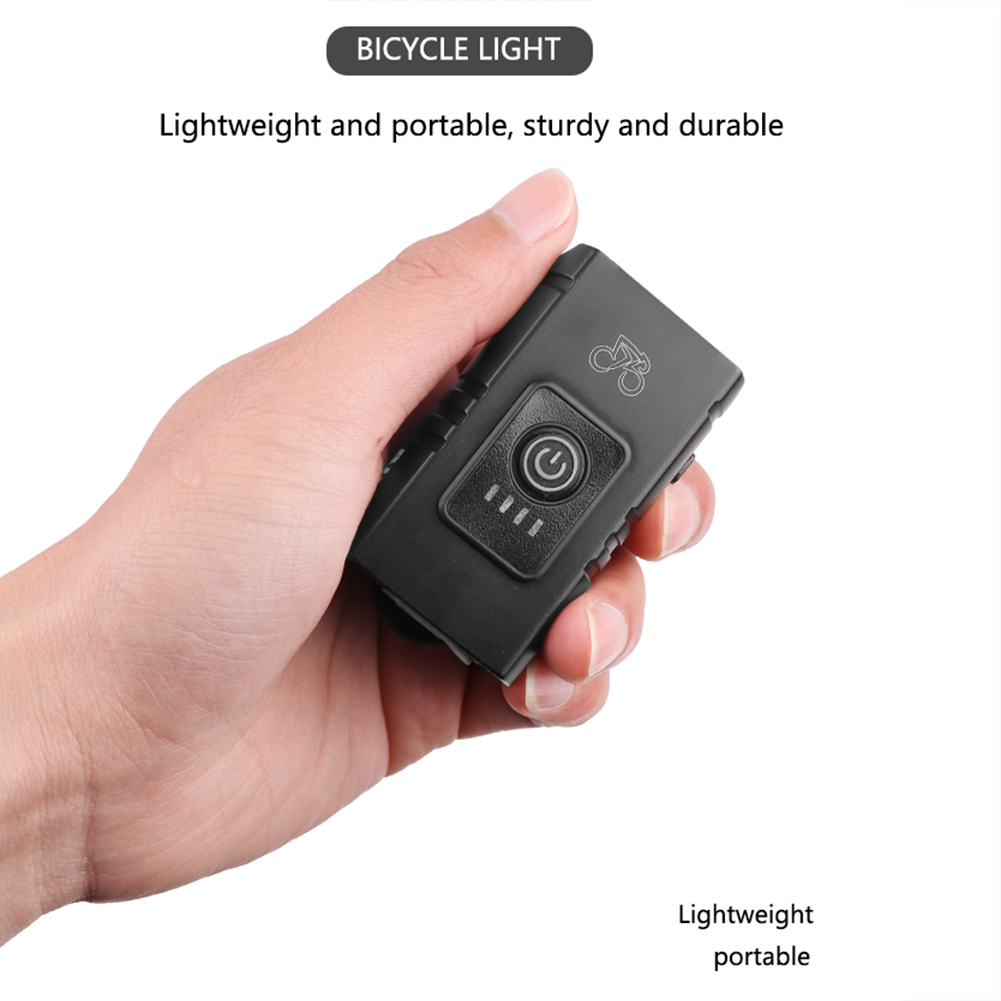 Human - T6 LED Bicycle Light 10W 6 Modes USB Rechargeable Power Display MTB Mountain Road Bike Front Lamp Cycling Equipment Flashlight