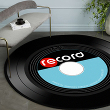 Vintage Carpet Chair Vinyl Home-Decor Round Anti-Slip-Rug Music Record-Design Personality