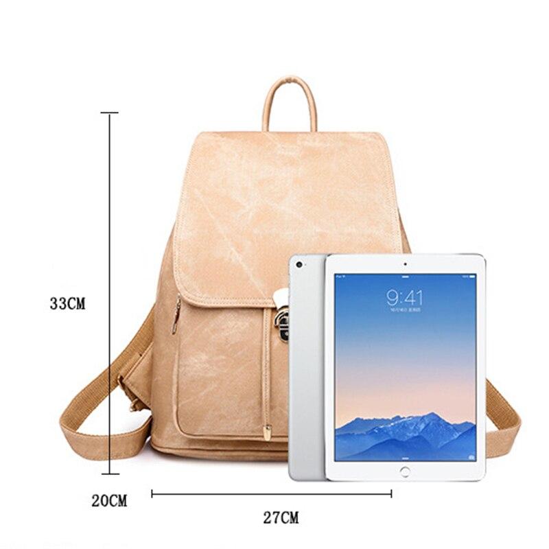 New arrival PU Backpack Women/'s Imitation Denim Pattern Backpack Vintage Wind Bag