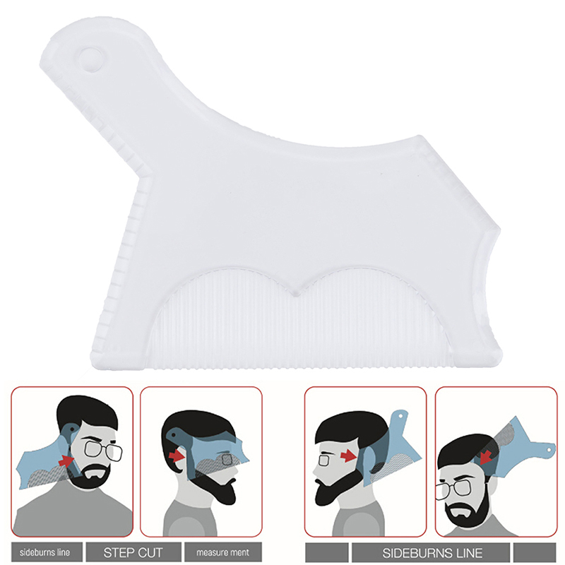 Beard Shaping Comb Innovative Design Tool Trimming Shaper Template Guide For Shaving Or Stencil With Full-Size Comb For Line Up
