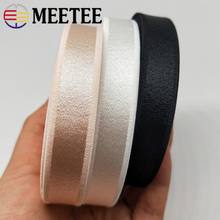 Meetee 20M 10/12/15/18mm Nylon Elastic Band for Underwear Shoulder Strap Bra Swimsuit Belts Spandex Webbing DIY Sew Rubber Bands