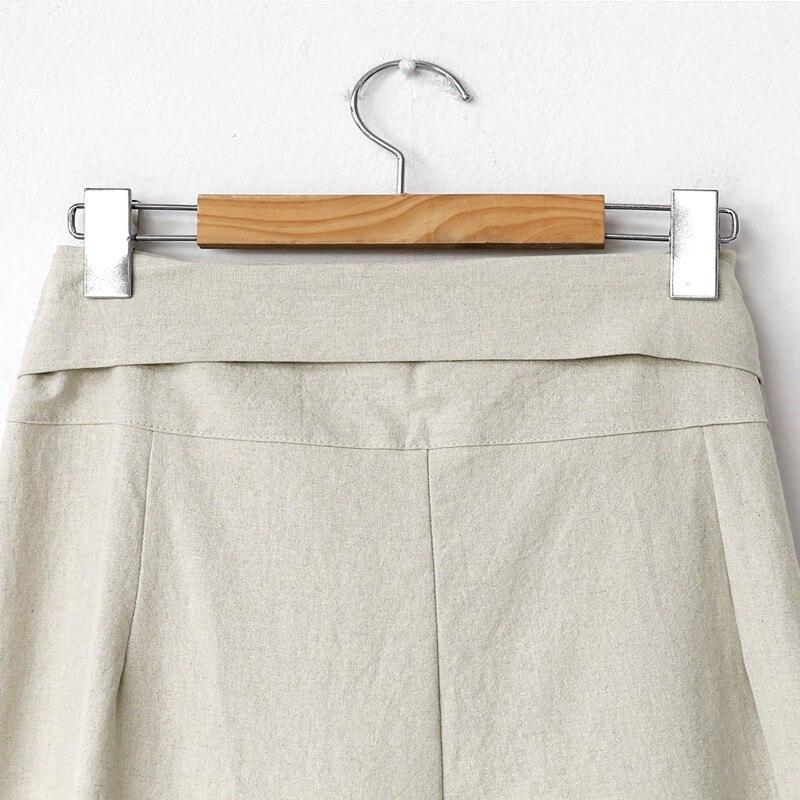 H0ac1ed9dafdd4e07aa24fbafa20884961 - Spring / Autumn Full Length Side Bow Tie Wide Leg Pants