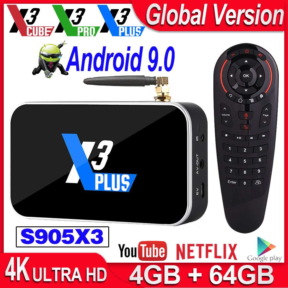 Media-Player Tv-Box Wifi DDR4 X3 Cube S905X3 Ugoos X3 X3-Plus Pro 1000M Android 2GB 16GB title=