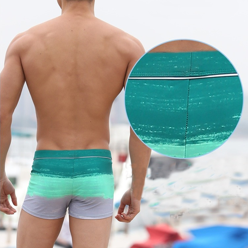 Boschke 2020 New Elastic Men/'s Swimming 4XL Trunk Boxer Shorts Summer Bath Clothes Sexy Striped Male Swimwear swimsuit Plus Size