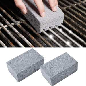 Bbq-Tools Grease-Cleaner Brick-Block Kitchen-Gadgets Cleaning-Stone Barbecue 2pcs Decorates